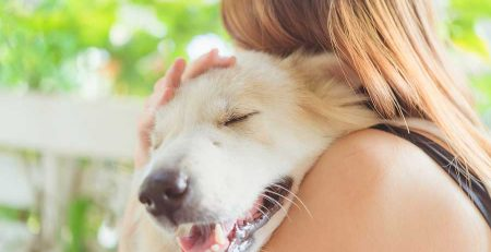 Dog Wellness Tips: a woman hugging her dog